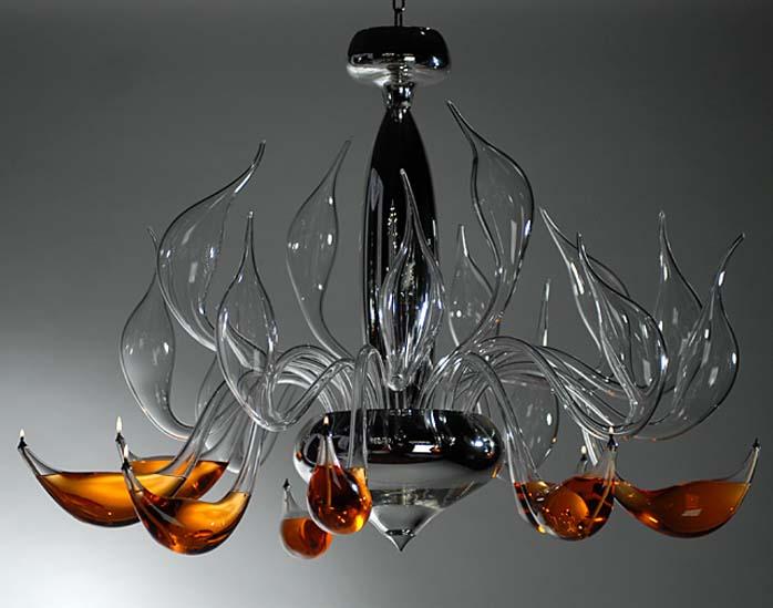 szkło weneckie żyrandole