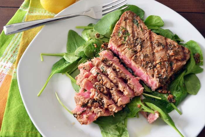 stek z łososia dieta dukana