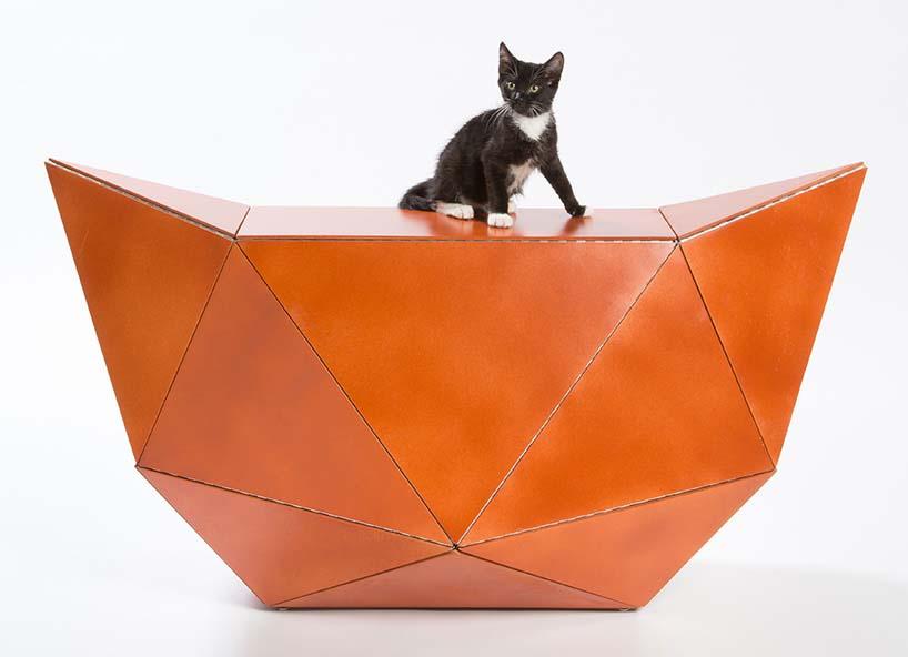 683277cc3f07e1 ES-EN-EM: zarówno pragmatyczne, jak i poetyczne, Meow-Miaow jest  schronieniem dla kotów inspirowanym origami, zaprojektowanym zarówno do  wnętrz, ...
