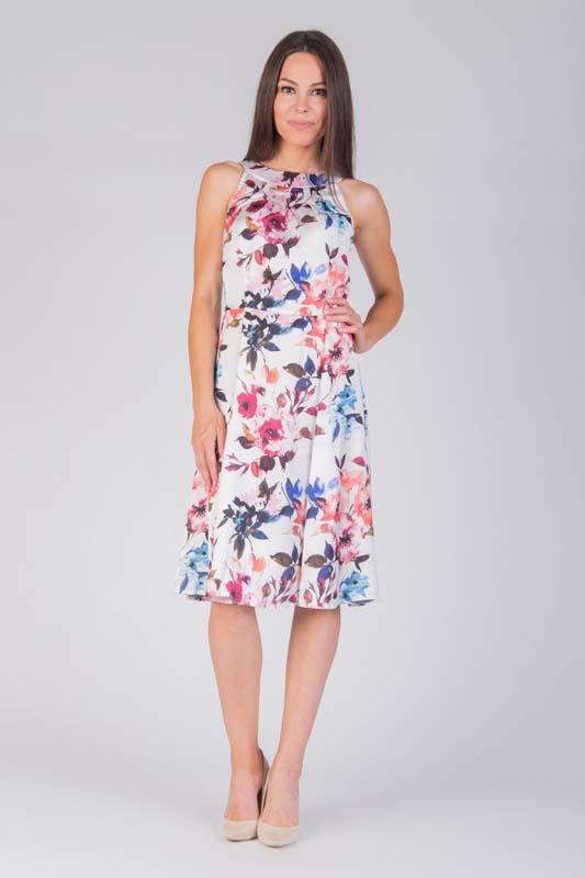 56d84ba5e2 W przypadku sukienki za kolano w kwiaty