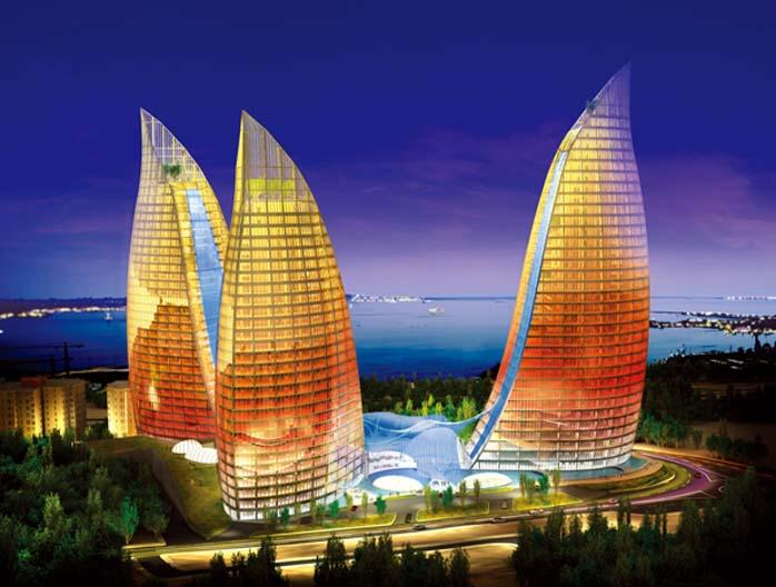 Ogniste Wieże Baku